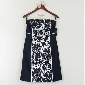 New York & Company NWT Black & White Floral Dress